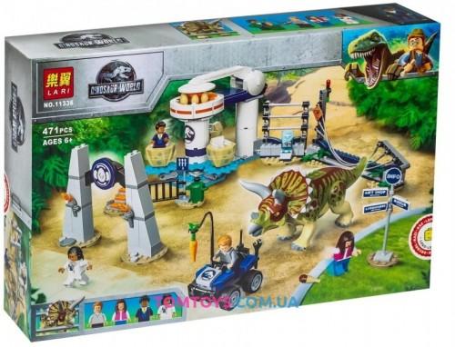 Конструктор Bela Нападение трицератопса Аналог Lego Jurassic World 11336