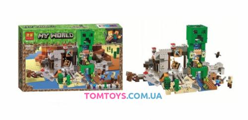Конструктор Lari Майнкрафт Шахта Крипера аналог Lego Minecraft 11363