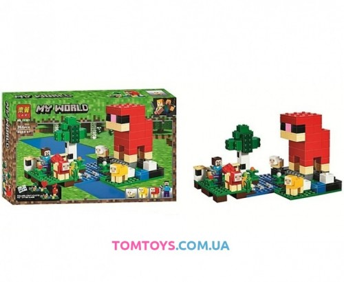 Конструктор Lari Майнкрафт Шерстяная ферма аналог Lego Minecraft 11361