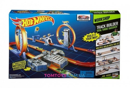 Трек Hot Wheels Track Builder Total Turbo Takeover Двойное ускорение BGX89