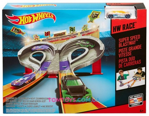 Трек Hot Wheels Super Speed Blastway  Безумные гонки CDL49