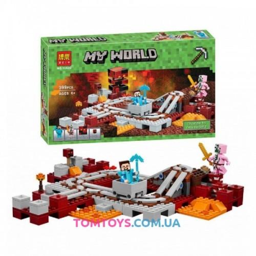 Конструктор Bela Minecraft Подземная железная дорога 10620