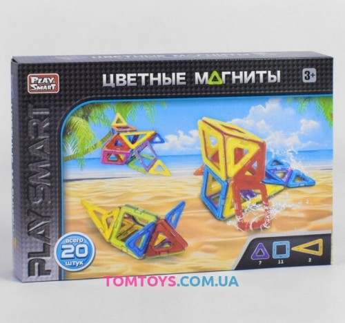 Конструктор магнитный Play Smart 2467
