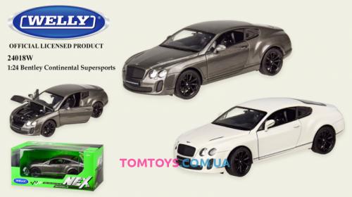 Автомодель Welly 1:24 BENTLEY CONTINENTAL SUPERSPORTS 24018W