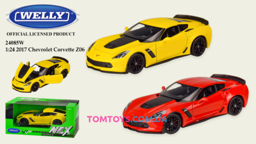 Автомодель Welly 1:24 CHEVROLET COREVETTE Z06 24085W