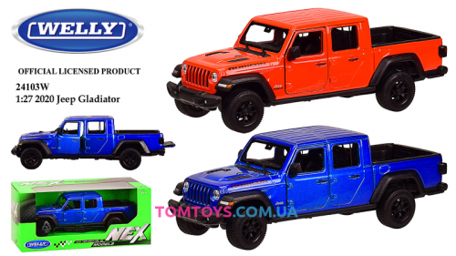 Автомодель Welly 1:24  JEEP GLADIATOR 24103W