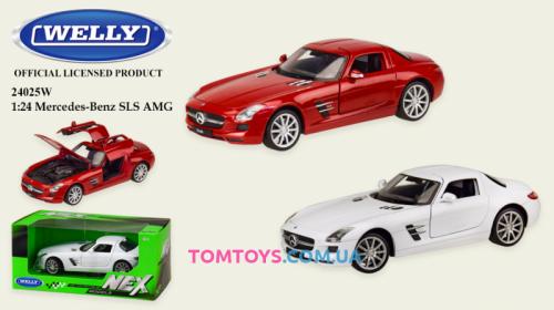 Автомодель Welly 1:24 MERCEDES-BENZ SLS AMG 24025W