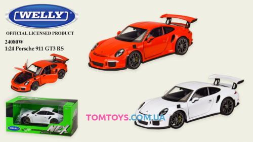 Автомодель Welly 1:24 PORSCHE 911 GT3 RS 24080W