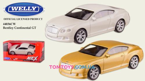 Автомодель Welly 1:43 BENTLEY CONTINENTAL GT 44036CW