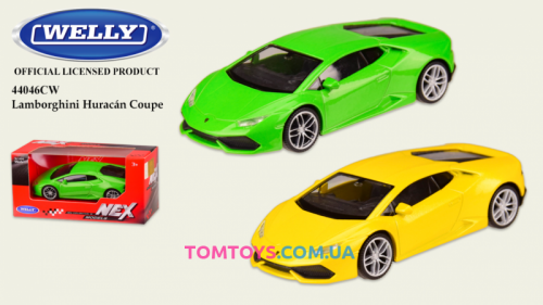 Автомодель Welly 1:43 LAMBORGHINI HURACAN LP  44046CW