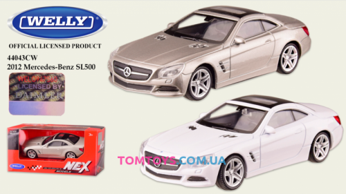 Автомодель Welly 1:43 MERCEDES-BENZ SL500 44043CW