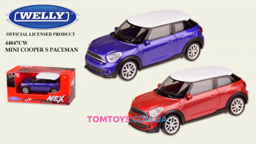 Автомодель Welly 1:43 MINI COOPER PACEMAN 44047CW
