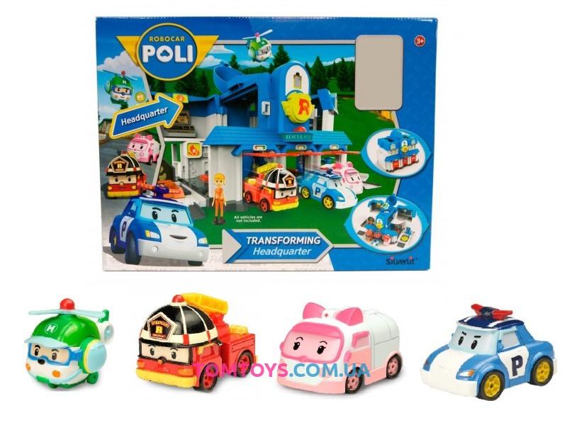 Игровой набор Штаб-квартира Poli Robocar 83304