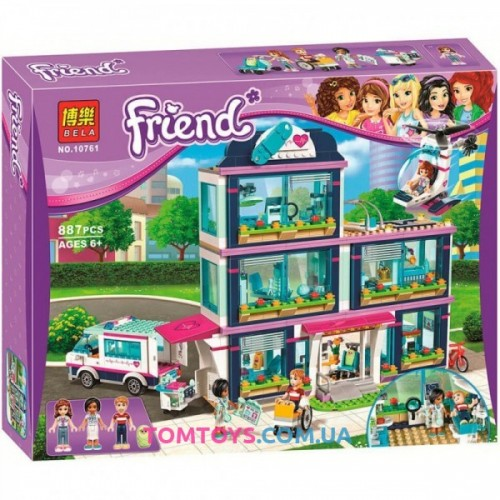 Конструктор Bela Friends аналог LEGO Friends 41318 Клиника Хартлейк Сити 10761