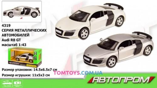 Автомодель АВТОПРОМ 1:43 AUDI R8 GT 4319