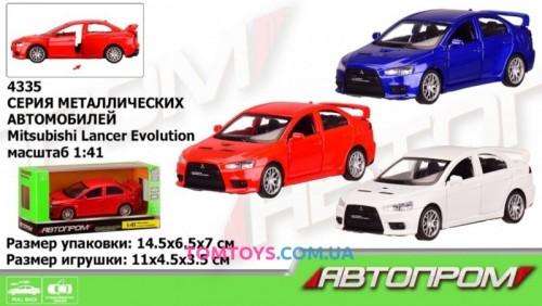 Автомодель АВТОПРОМ 1:41 Mitsubishi-lancer-evolution 4335