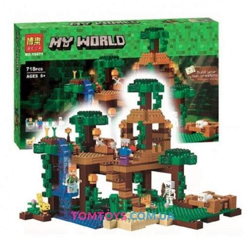 Конструктор Bela Minecraft Домик на дереве в джунглях 10471