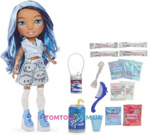 Кукла Пупси Слайм Рейнбоу Хай Голубая Леди Скай Rainbow Surprise Blue Skye 571209
