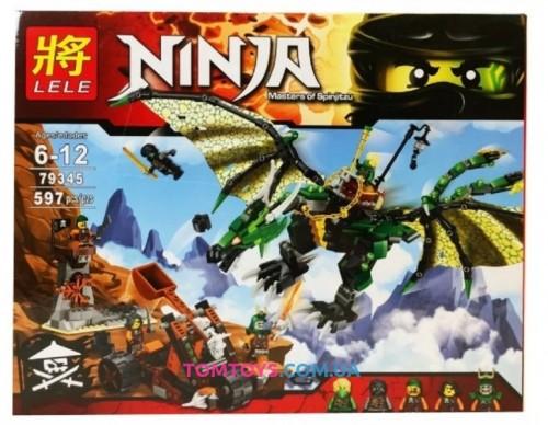 Конструктор LELE Ninja Зелёный энерджи дракон Ллойда  79345