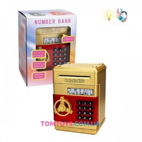 Детский Сейф копилка с кодовым замком Number Bank 6688-20A