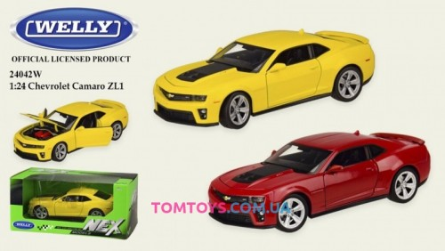 Автомодель Welly 1:24 CHEVROLET CAMARO ZL1 24042W