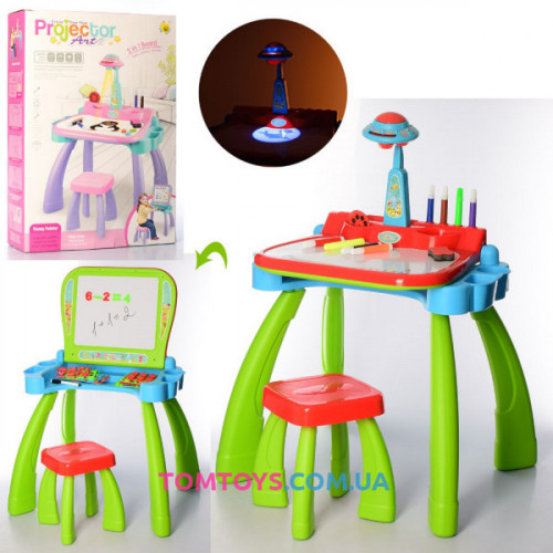 Детский стол мольберт трансформер 3 в 1 22088-22 A