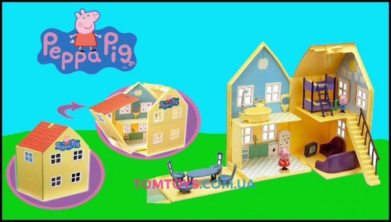 Игровой набор Peppa - ЗАГОРОДНЫЙ ДОМ ПЕППЫ (домик с мебелью, 2 фигурки)  15553
