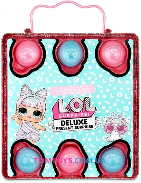 Игровой набор с эксклюзивной L.O.L. Surprise серии Present Surprise Супер подарок розовый 570691
