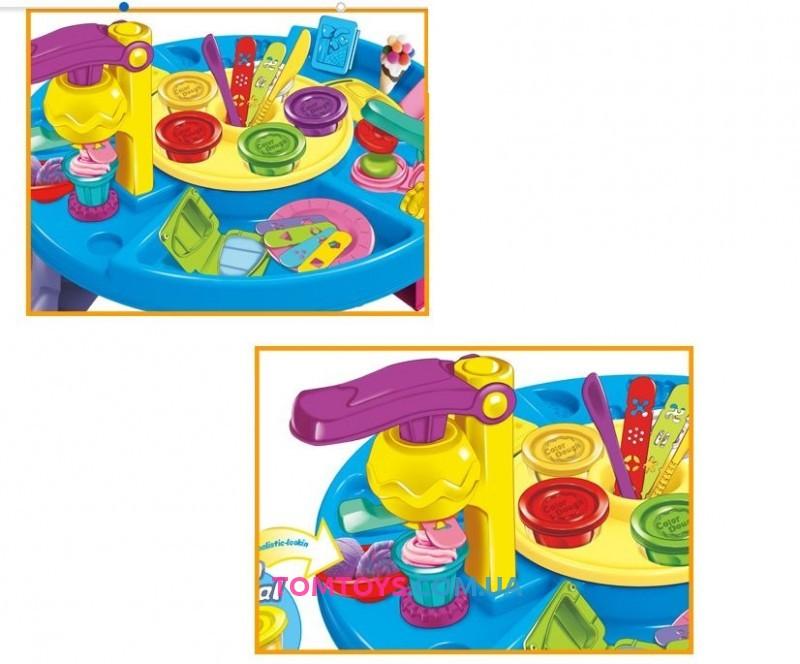 Игровой набор столик с тестом для лепки мороженого 8724