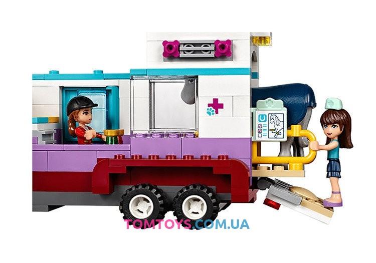 Конструктор Bela Friends аналог LEGO Friends 41125 Ветеринарная машина для лошадок 10561