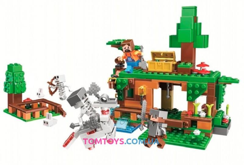 Конструктор Bela Майнкрафт Битва за сокровища аналог Lego Minecraft 11138