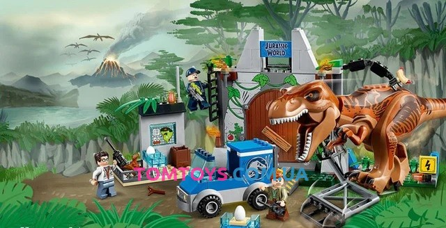 Конструктор Bela Побег Ти-Рекса Аналог Lego Juniors Jurassic World 10920