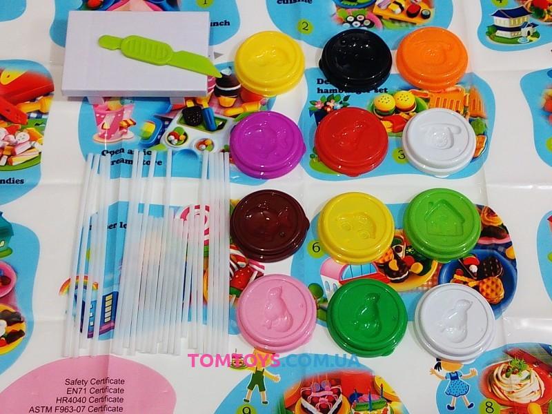Мега набор тесто для лепки  Colour Dough вкусный микс суши ролы пряники конфеты 8803