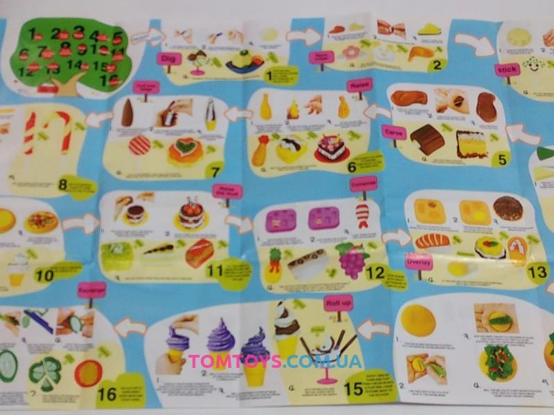 Мега набор тесто для лепки Colour Dough вкусный микс фрукты булочки мороженое 8802