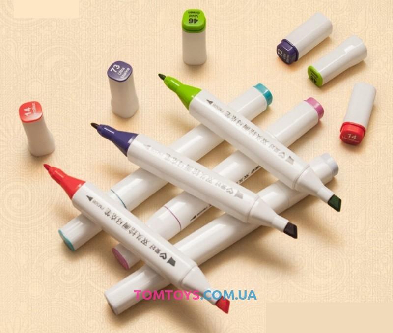 Набор скетч-маркеров 60 шт для рисования двусторонних P2160