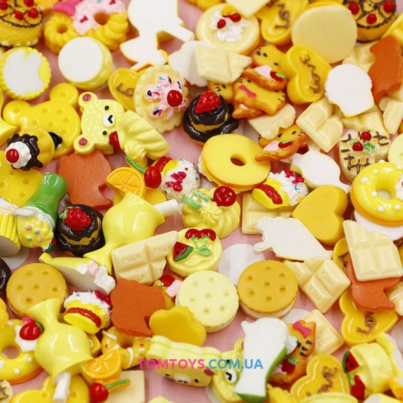 Шармики для украшения слайма желтые Пирожиные