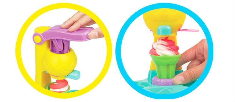 Тесто для лепки YIQIS набор мороженое Ice Cream Double Twister 8818A