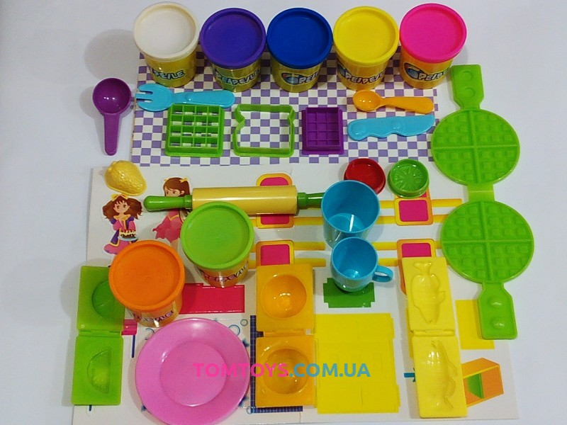 Тесто для лепки PEIPEILE кухня для принцессы 88002