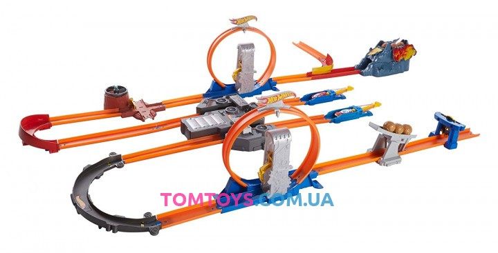 Трек Hot Wheels Track Builder Total Turbo Takeover Двойное ускорение BGX89