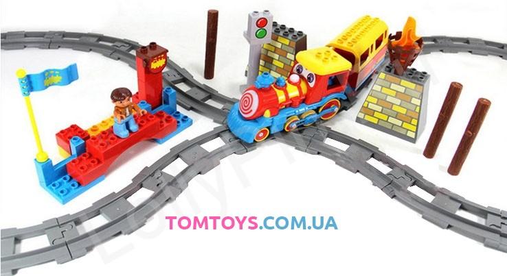 Железная дорога JIXIN с конструктором 'LITTLE TRAIN' 8588B